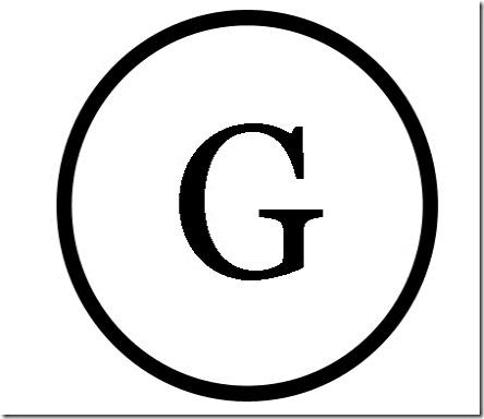 G Monogram Stencil
