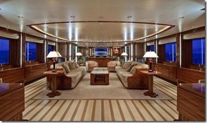 Os  interiores de luxuosos iates 8