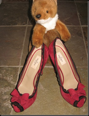 Weasel loves red Valentino pumps