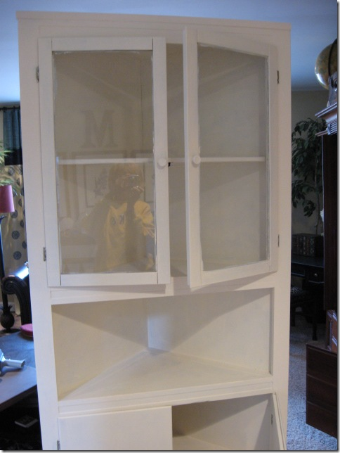 Corner cabinet painted