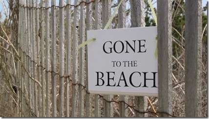 Gone to Beach by Cottage and Bungalow