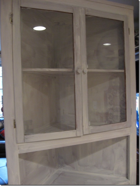 I knew already that I would paint it white. Now, Jill in NC asked me why I  chose white instead of black, since most of my paint projects have involved  black ... - Corner Cabinet How To's - Southern Hospitality