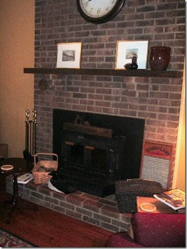 A big brick fireplace is always something to decorate around and I suggested