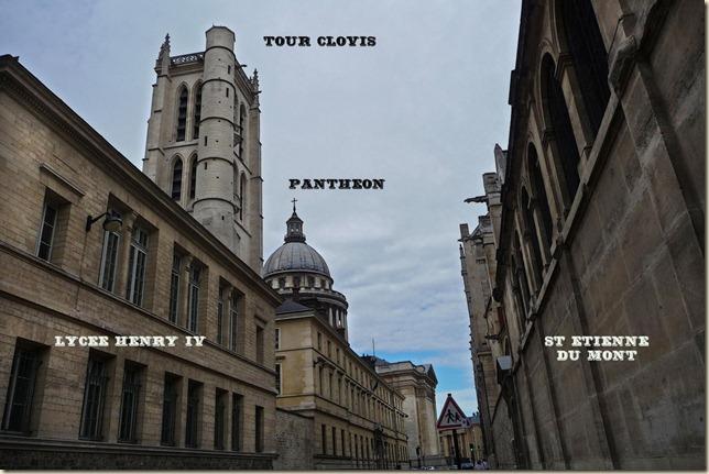 La rue Clovis et ses monuments