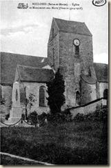 église de Recloses et monument aux morts
