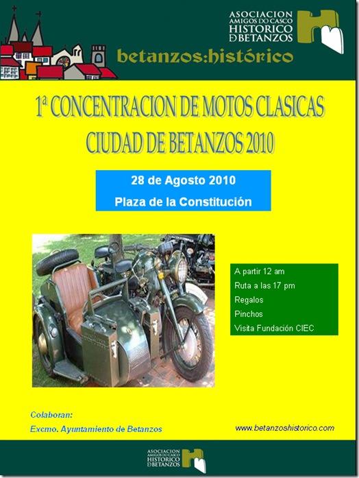 1ª Concentración de motos clásicas cidade de Betanzos 2010