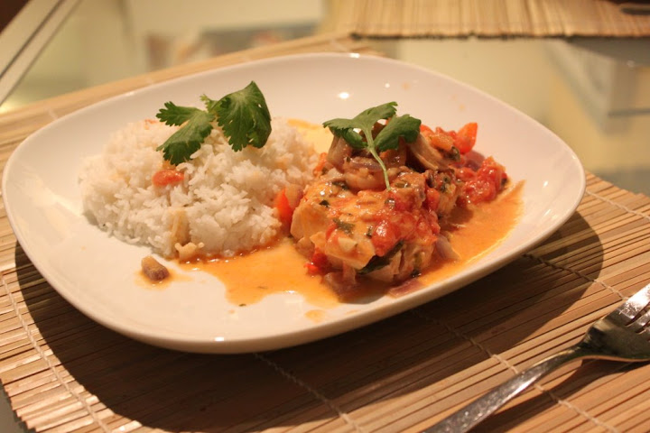 My version of Cajus Moqueca Fish Stew