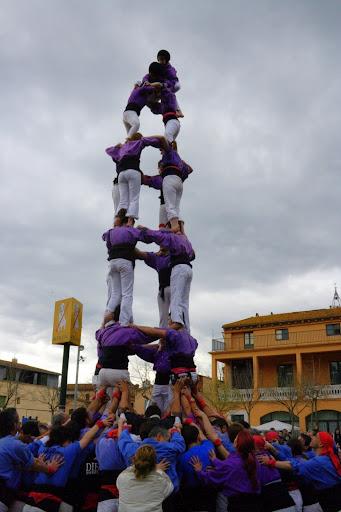 Colla Castellera de Figueres 14a Fira de l'embotit de Bescanó quatre de set (4/7)