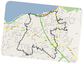 GPS Route from Morecambe