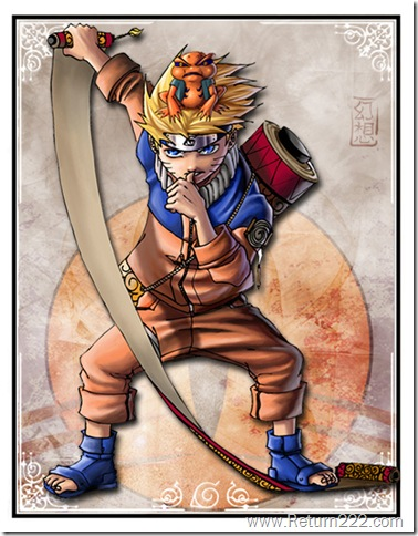 Naruto_and_Gamakitchi_card_by_GensoTeam