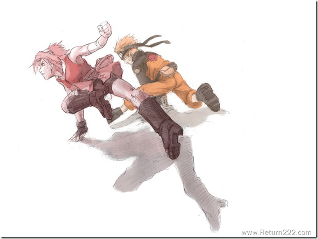 Naruto__Sakura_and_Naruto_by_Risachantag