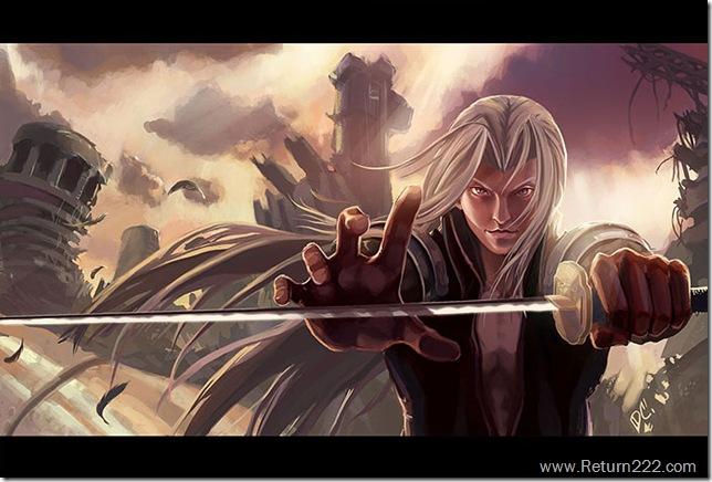 Sephiroth_Fanart__Dawn_by_Zureul