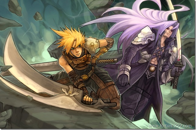 Cloud_vs_Sephiroth_by_buraisuko
