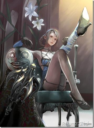 NierReplicant___Kaine__Emile__by_yagatama