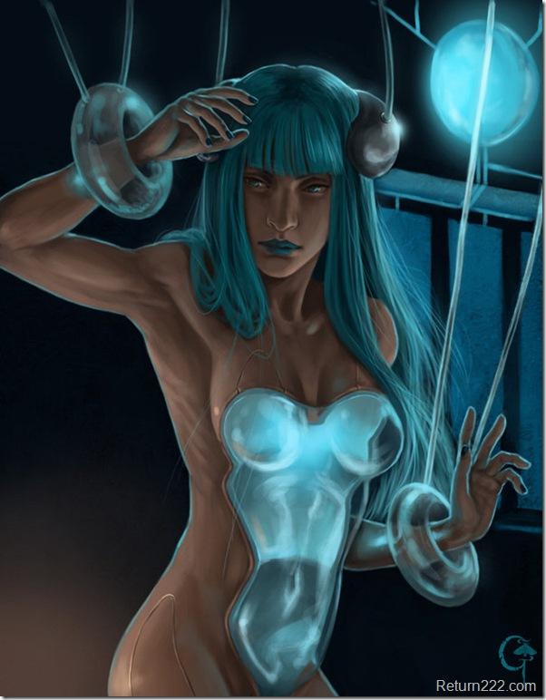 Blue_hair_robot_girl_by_Gerwell
