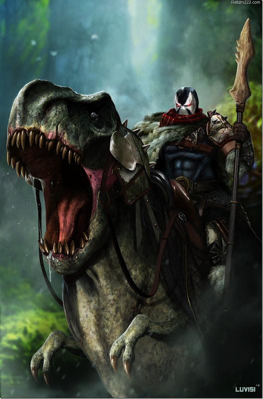 DC_Comics___Riding_a_T_Rex_by_adonihs