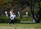 A Japanese player makes a through