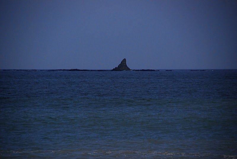 The famous rock outcropping that is the symbol of Chigasaki