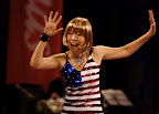 Sparklingly patriotic dancer