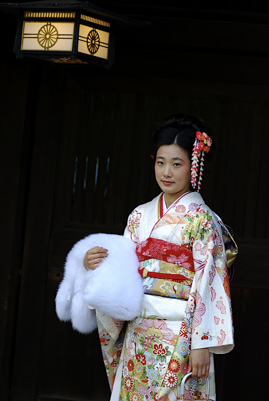 A rare girl who chose a more refined and elegant kimono and look for Coming of Age Day.