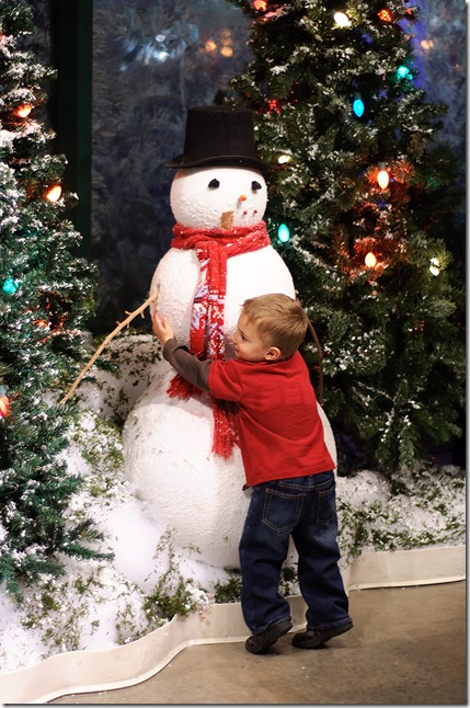 beau and snowman for web