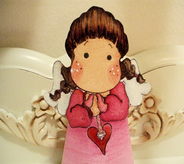 Close up of Valentine Angel