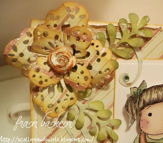 Tilda with Tulle Skirt Card_Flower Closeup