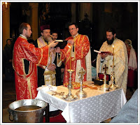 Baptism service at St Antim Monastery
