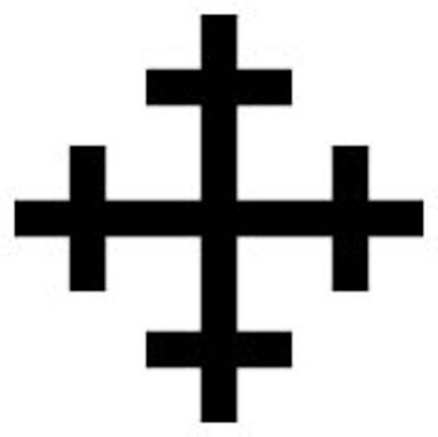 Cross crosslet -   A cross with the ends of each arm crossed.