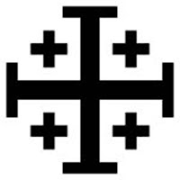 Jerusalem cross -   A variant of the Crusaders' cross with cross potent.