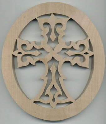 Wooden cross made of olive wood from Jerusalem