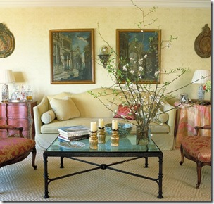 alessandra branca cream and pink living room