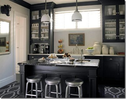 sarahs fab day house beautiful black kitchen