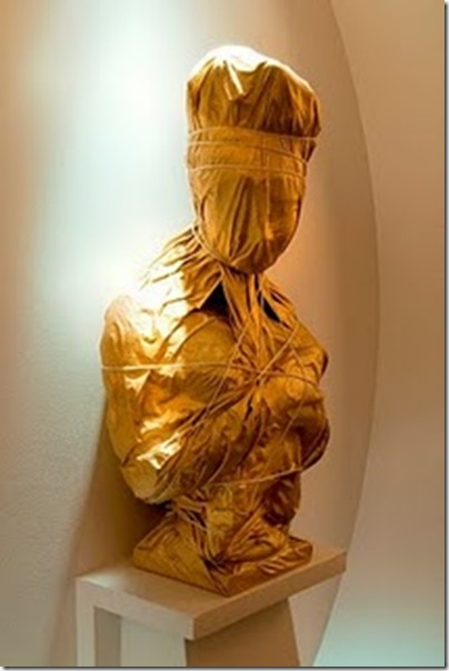 Hotel Recamier by Jean Louis Deniot via The Style Saloniste- wrapped bust