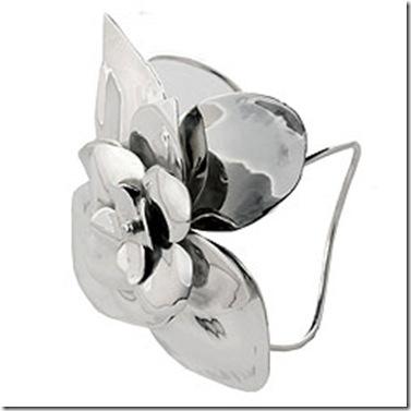 silver- vivre sterling silver eva flower cuff