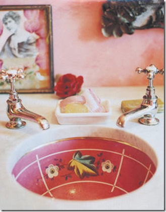 shannon fricke pink and red bathroom