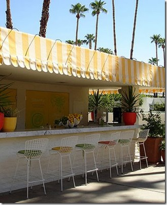 compulsively compiled yellow stripe awning