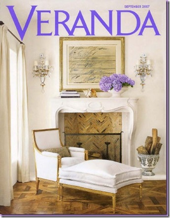 veranda cover with hydrangea