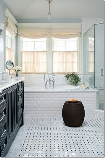 a lifes design bathroom with garden stool