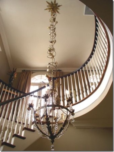 julie neill- joy chandelier with custom chain ebelleshment and canopy
