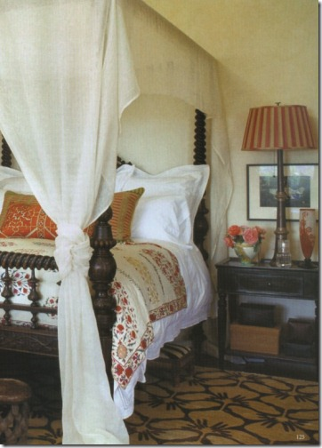 kathryn ireland world of interiors bedroom with suzani
