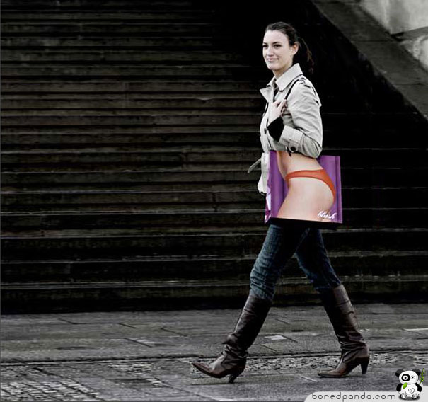 Pour faire vos courses... Creative-Bag-Advertisements-blush