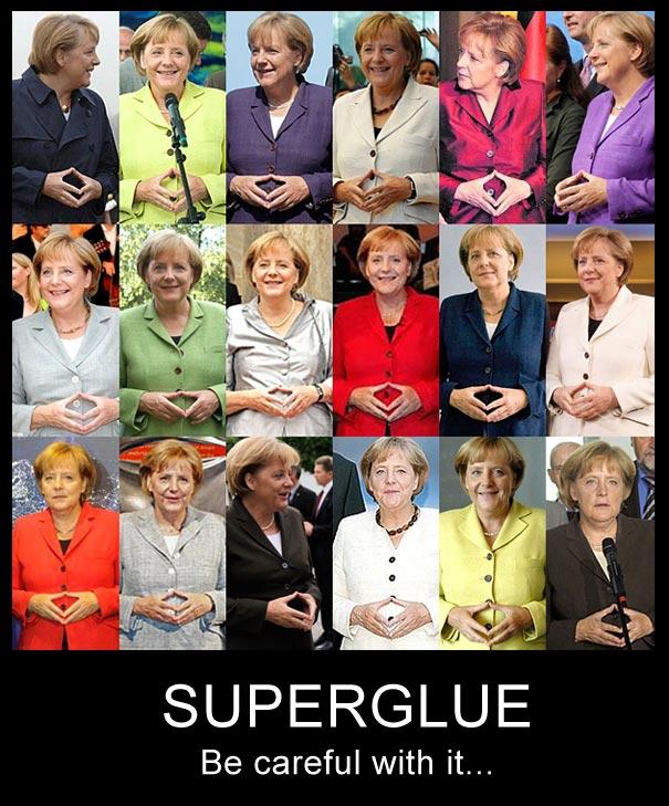 Merkel's Problems With Super-Glue [Pic]