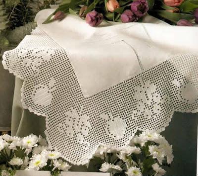 de Coats Fabro, en color blanco Hilo DUET de Coots Fabra de