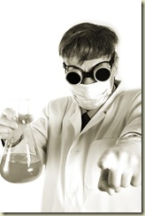 Scientist working in a labor. Isolated with clipping path.