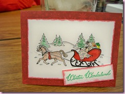 Ella's sleigh