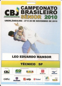 Cracha Brasileiro Sênior 2010-0001