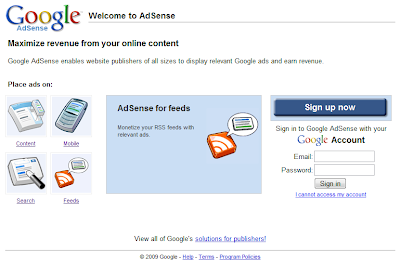how to start google adsense