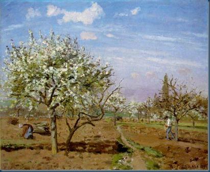 Huerto en flor, Louveciennes 1872