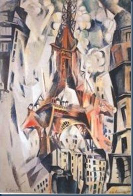 La torre Eiffel R Delaunay 1910